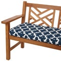 Scalloped Navy 60-inch Indoor/ Outdoor Corded Bench Cushion