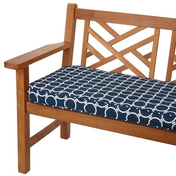 Links Navy 48 inch Indoor Outdoor Corded Bench Cushion