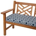 Wavy Stripe Navy 48-inch Indoor/ Outdoor Corded Bench Cushion
