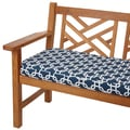 Knotted Navy 48-inch Indoor/ Outdoor Corded Bench Cushion