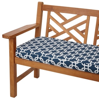 Knotted Navy 60-inch Indoor/ Outdoor Corded Bench Cushion