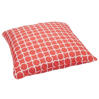Links Coral Corded Outdoor/ Indoor Large 28-inch Floor Pillow