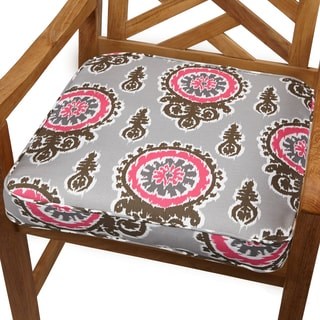 Vintage Pink 19-inch Indoor/ Outdoor Corded Chair Cushion
