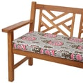 Vintage Pink 48-inch Indoor/ Outdoor Corded Bench Cushion