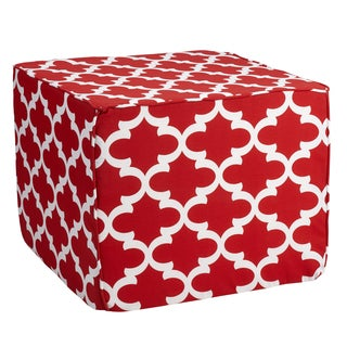 Brooklyn Scalloped 22-inch Square Indoor/ Outdoor Ottoman