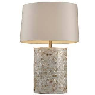 Dimond Lighting Trump Sunny Isles 1-light White Mother of Pearl Table Lamp