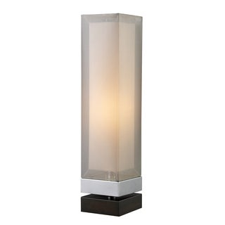 Dimond Lighting Exeter 1-light Chrome/ Espresso Table Lamp