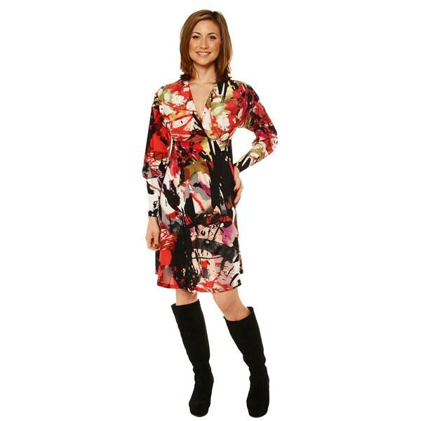 24/7 Comfort Apparel Women's Knee-length Empire Dress