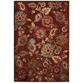 Cire Marlow Quartz/ Ruby Power-Loomed Area Rug (3'11 x 5'5)
