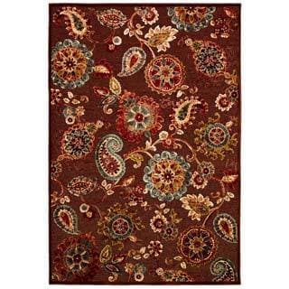 Cire Marlow Quartz/ Ruby Power-Loomed Area Rug (7'10 x 11'2)