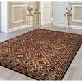 Cire Palmer Multicolored Power-Loomed Area Rug (3'11 x 5'5)