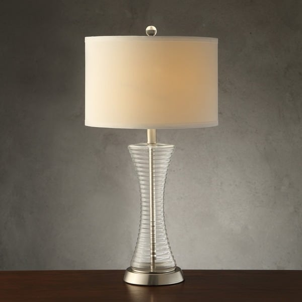 vincennes 3 way 1 light clear glass contoured base accent table lamp. Black Bedroom Furniture Sets. Home Design Ideas