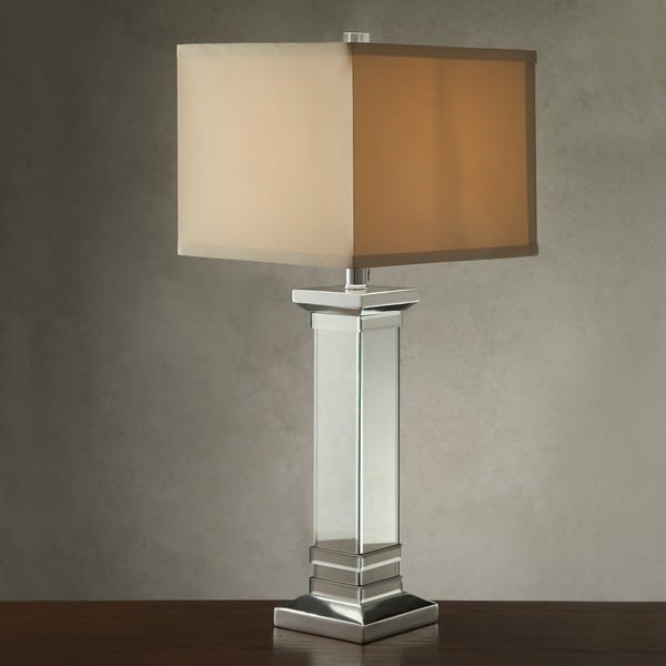 INSPIRE Q Felton 3-way Crystal Mirror Base 1-light Accent Table Lamp (As Is Item)