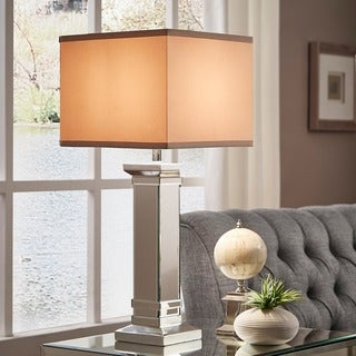 INSPIRE Q Felton 3-way Crystal Mirror Base 1-light Accent Table Lamp