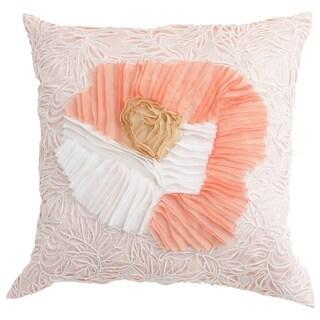 Cream Lazer Cut Down Filled Pillow
