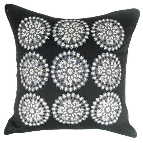 Black Felt Down Filled Pillow