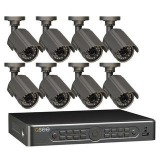 Q-See 8 Channel DVR Security Surveillance System 8 Cameras with 500GB HDD