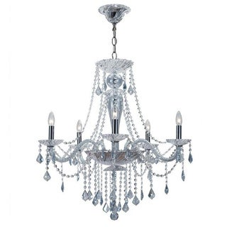 Simone 6-light Blue Crystal Chrome Chandelier