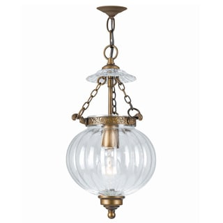 Camden 1-light Antique Brass Pendant