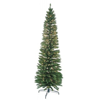 7-foot Pre-lit Pencil Green Tree
