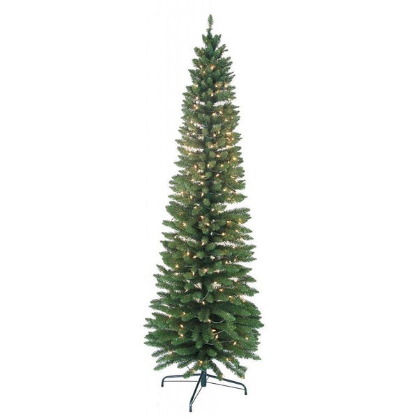 7-foot Pre-lit Pencil Green Tree