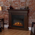 Crawford Real Flame Electric Fireplace-Chestnut Oak