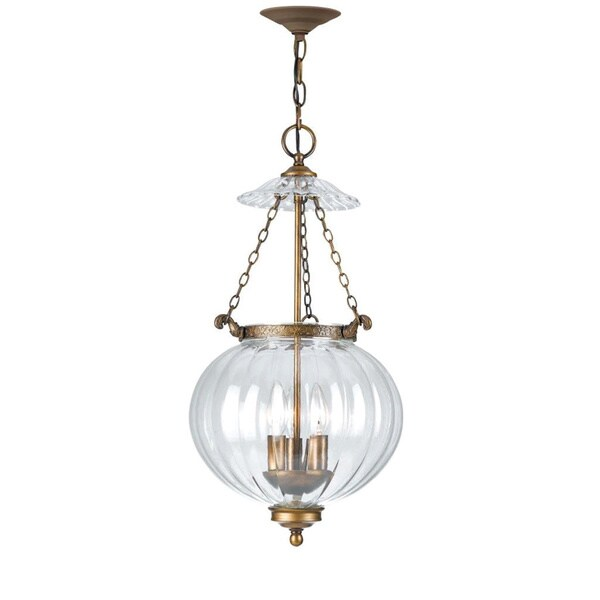 Camden 3-light Antique Brass Pendant
