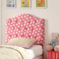 Twin Pink Tufted Headbo