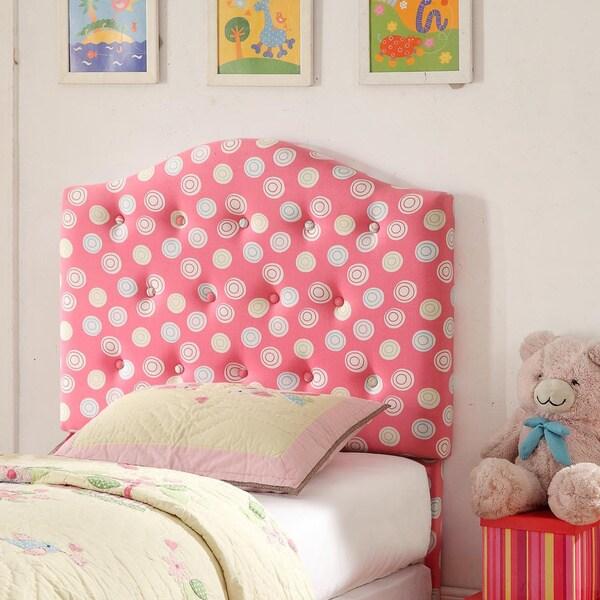 Twin Pink Tufted Headboard