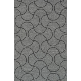 "Hand Tufted Benson Grey Rug (7'6""x9'6"")"