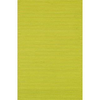 Hand Woven Rhythm Peridot Wool Rug (7'6 x 9'6)