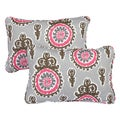Vintage Pink Corded 13 x 20 inch Indoor/ Outdoor Throw Pillows (Set of 2)