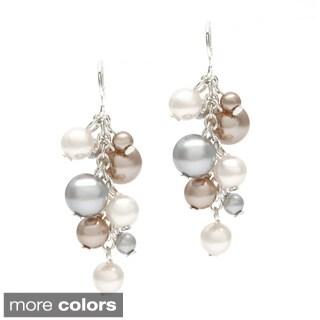 Roman Faux Pearl Shaky Cluster Dangle Earrings