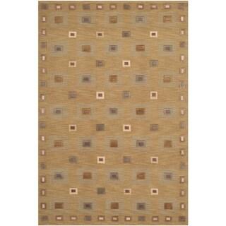Safavieh Hand-knotted Tibetan Gold Wool Area Rug (4' x 6')