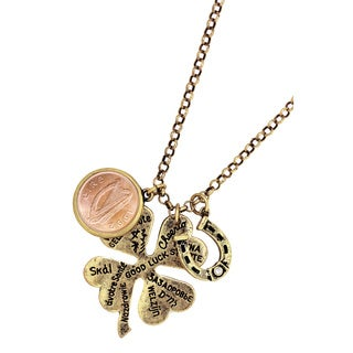American Coin Treasures Steel Lucky Language Irish Coin Necklace