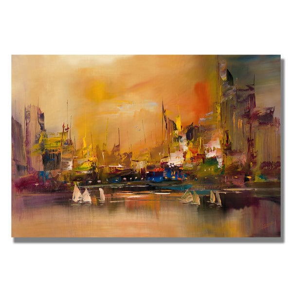 Rio 'City Reflections' Canvas Art