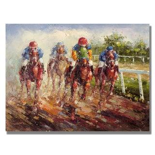 Rio 'Kentucky Derby' Canvas Art