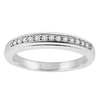 Sterling Silver 1/8ct TDW Diamond Band (H-I, SI2)