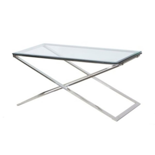 Hudson Cross Beveled Glass Folding Coffee Table