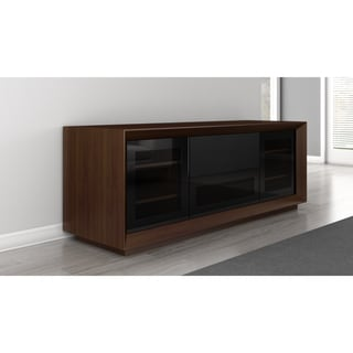 Walnut Veneer Contemporary 70-inch TV Stand