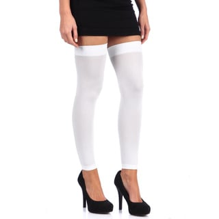 Hustler White Footless Sheer Thigh Highs (Set of 2)