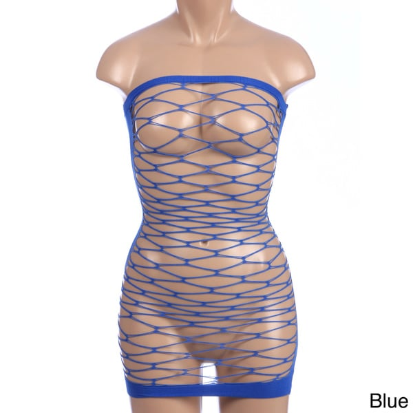Hustler Fencenet Micro Mini Dress (One size)