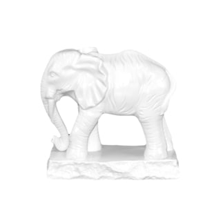 White Ceramic Elephant Statue