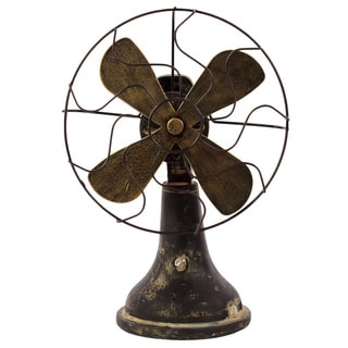 Antiqued Resin Fan Accent Piece