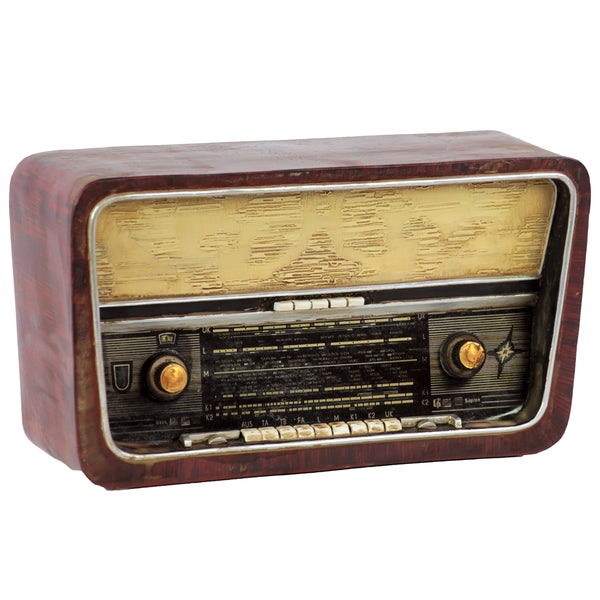 Decorative Resin Vintage Radio
