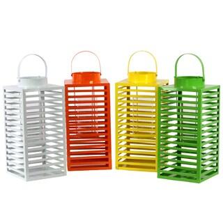 Assorted Color Modern Metal Lanterns (Set of 4)