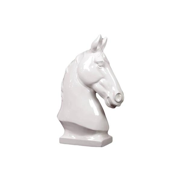 White Ceramic Horse Bust