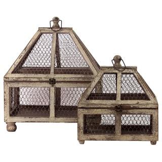 Wood Terrariums (Set of 2)