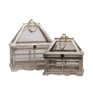 Wooden Terrarium Set of Two