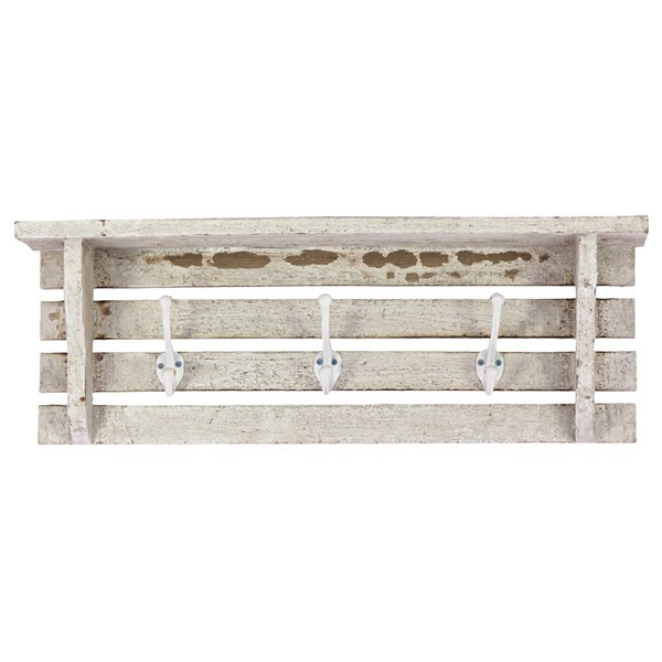 Wooden Wall Shelf-White